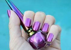 Awesome purple glitter nail polish