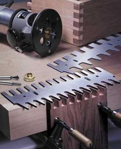 Large Universal Aluminum Pins & Tails Through Thru Dovetail Jig Template