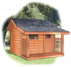 8x12 classic shed with 4 foot side porch | Shed Plans