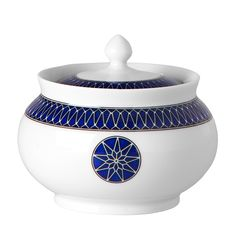Royal Limoges Blue Star Sugar Bowl