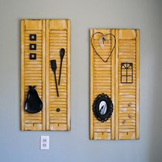 Shutter decor....cute reuse of an old item
