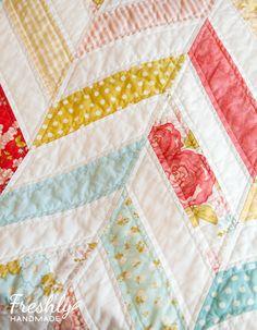 Freshly Handmade: Marguerite Herringbone Quilt: Finished