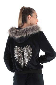 Claire Katrania Φόρμα Βελούδο Black Angel
