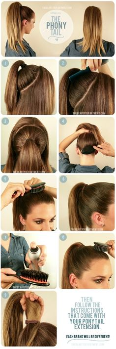 The Beauty Department: Your Daily Dose of Pretty. -   PREPPING HAIR FOR A PONYTAIL EXTENSION