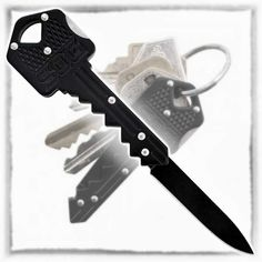 The SOG Specialty Knives & Tools KEY-101 Key-Knife is a quick and convenient tool that you can always have with you without ever noticing that it's there. It is designed to mimic the look and feel of a standard house key that slids onto your everyday carry keyring. The foldable 1.5″ knife blade is made … www.gonnawannagetit.com
