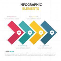 カラフルな三角形ビジネスインフォグラフィックテンプレート 無料ベクター