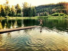 One of my favorite pics ever!  Summer swim at Twin Rivers Resort, 2010 :)
