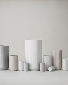 The beautiful, classic Lyngby vase in matt black.The Lyngby vase has become one of the most iconic designs from Lyngby Porcelain. Porcelain Vase, Ceramic Vase, White Porcelain, Ceramic Pottery, Bauhaus, Vase Design, Deco Design, Vase Deco, White Vases
