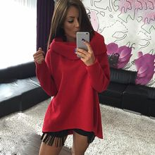Christmas clothes 2016 New Arrival Women Winter Hoodies Scarf Collar Long Sleeve Fashion Casual Style Autumn Sweatshirts(China (Mainland))