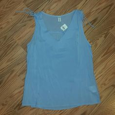Old Navy Pale Blue Tank Top Never worn with tags accidently bought 2 of these. Old Navy Tops Tank Tops
