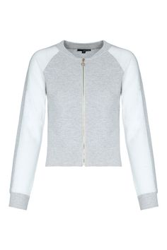 White & Grey Ribebd Cardigan TALLY WEiJL