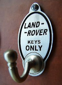 Land Rover Off Road 4x4 Key Hook (EXCLUSIVE DESIGN) Engraved English Pewter