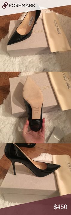 Jimmy Choo pumps Never worn! jimmy Choo patent pumps, super comfy. Comes with box and dust bag. Authentic Jimmy Choo Shoes Heels