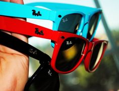 #raybans.  Want want want!!!! Omg I love them all but especially the blue!