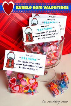 The Mandatory Mooch: Bubble Gum Valentines