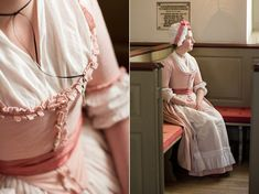 Mode de Lis: · Pink 1770s Round Gown ·