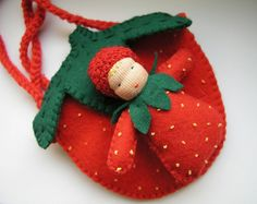 strawberry doll and bag