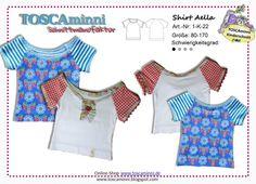 Kindermode - Schnittmuster Kindershirt Aella Gr. 80-170 - ein Designerstück von TOSCAminni-Schnittmanufaktur bei DaWanda
