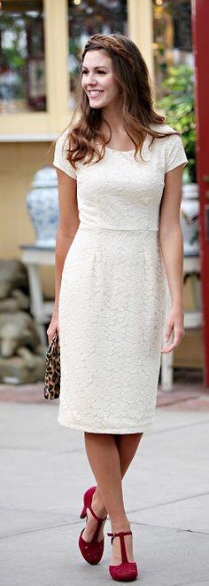 April Dress - Cream - Willow Blaire