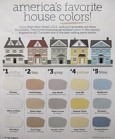 st popular exterior house colors.