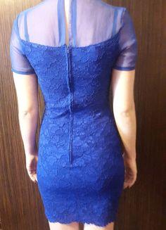 Kup mój przedmiot na #vintedpl http://www.vinted.pl/damska-odziez/krotkie-sukienki/9890475-koronkowa-granatowa-kobaltowa-sukienka-dopasowana