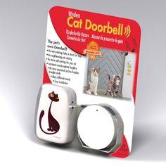 Met de katten deurbel hoeft jouw kat nooit meer in de kou te staan. Het perfect cadeau voor katten liefhebbers.