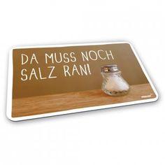 #stickyjam #brettchen #salz Frühstücksbrettchen mit Schriftzug: Da muss noch Salz ran!