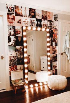 80 dorm room inspiration decor ideas 56 is part of Room decor - Cute Bedroom Ideas, Cute Room Decor, Room Ideas Bedroom, Teen Room Decor, Bedroom Inspo, Trendy Bedroom, Decor For Small Bedroom, Ideas For Bedrooms, Lighting Ideas Bedroom