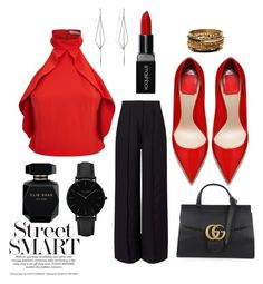 """""""Smart Casual"""" by catherine-chapman on Polyvore featuring Alice + Olivia, Miss Selfridge, CLUSE, Diane Kordas, Gucci, Amrita Singh, Smashbox and Elie Saab"""