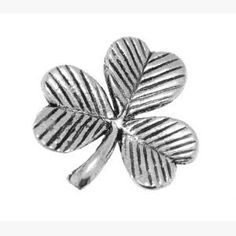 Pewter Pin Badge Regional Shamrock by Danetre Gifts. $6.99. Measures approx .75 inches across. Quality Lead Free English Pewter. English Pewter, made in UK. NOT SUITABLE FOR YOUNG CHILDREN DUE TO SMALL PARTS. Supplied in a lovely black velvet gift bag, cellophane bagged to protect from weather on its journey.. Comes with one clutch and pin style fittings on the back.. English made pewter jewellery and decorative items. A quality British made product.