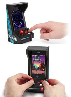 Original Comment:Turn your iPhone into a vintage arcade! MIne: Yes, because an I phone can be considered vintage in any sort of level possible games-gadgets Handy Gadgets, Gadgets And Gizmos, Tech Gadgets, Cute Phone Cases, Iphone Cases, Mini Arcade, Mercedes Maybach, Cool Technology, Cool Inventions