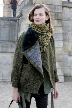 model Bette Franke#fall street style#coat