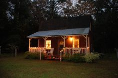 This historic homestead is a 22-acre working farm where you can see animals, walk trails through the woods, and pick seasonal fruit, or just spend the whole day relaxing on the porch. There are three cottages and a larger farmhouse, but the hand-built, 1920s-style Earl cabin would be our choice.