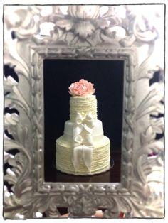 Elegant and sophisticated wedding cake...