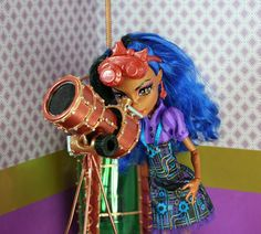 As part of her Steampunk room, a little telescope. Well, little to us, not so much to her size. It started off life as a...