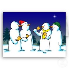 Jingle Bells :-  Festive campanology.  Four happy snowmen ringing bells in the snow. I don't think they are playing SILENT NIGHT!  #bells #christmas #holiday #winter #holidays #snowman #snowmen #campanology #ringing #festive #seasonal #xmas