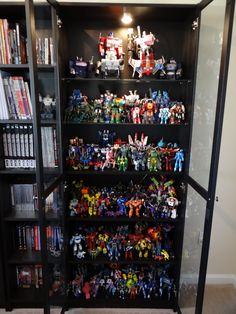 Transformers Display In Billy Bookcase Display Cabinets
