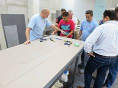 30 professionals at construction and refurbishment visited us and received a training on cutting and handling #Coverlam.