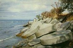 Grindstone City MI - on Lake Huron. Grindstones strewn on the beach by some gigantic hand.