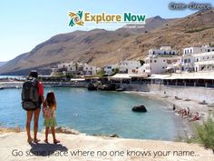 Kaiya and Bex just arriving in the south of Crete, Greece in Do you have a favourite place in Greece? Places In Greece, Travel General, Web Business, Know Your Name, Crete Greece, In 2015, World Traveler, Trip Planning, 10 Years