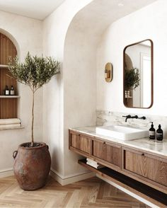 Monday Inspiration: Beautiful Rooms - Mad About The House #bathroominspo #bathroomdesign #homeideas Bad Inspiration, Bathroom Inspiration, Interior Design Inspiration, Interior Ideas, Luxury Interior, Design Ideas, Beautiful Bathrooms, Modern Bathroom, Master Bathroom