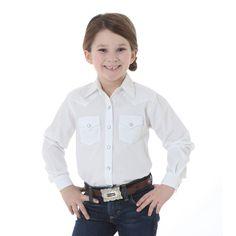 Wrangler Western Girls Long Sleeve Snap Shirt