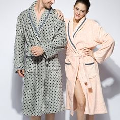 Peignoir gris et beige crème pour couple amoureux Lingerie, Gowns, Cottage, Swimming, Beauty, Dresses, Art, Fashion, Bath Robes