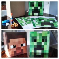 Making Steve and Creeper from Mine craft