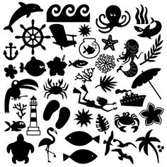 Jennifer Collector of Hobbies: Free svg files of all things waves Update! Machine Silhouette Portrait, Silhouette Machine, Silhouette Files, Silhouette Images, Silhouette Design, Beach Silhouette, Inkscape Tutorials, Silhouette Cameo Projects, Svg Files For Cricut