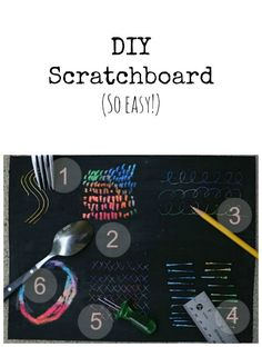 DIY scratchboard - it's incredibly easy to do • Artchoo.com