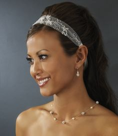 38.67$  Watch now - http://viupp.justgood.pw/vig/item.php?t=mr9nmj43123 - *Beautiful White Netted Ribbon Bridal Headband
