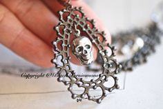 NEW  MNEME Earrings  Victorian Ornate Gothic by blackpersimmons, $12.00