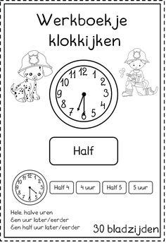 Learn Dutch, Telling Time, Scandal Abc, Math Classroom, Preschool Crafts, Fun Learning, Activities For Kids, Homeschool, Teacher