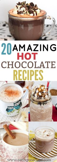 Try these delicious homemade hot chocolate recipes. We have 20 amazing recipes that everyone will love. They are so good! Give them a try today!
